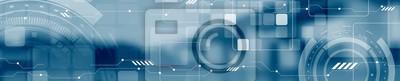Naklejka Streszczenie koncepcji technologii przemysłowych web header banner