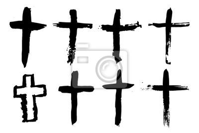 Naklejka Streszczenie krzyż lub krucyfiks - ręcznie rysowane