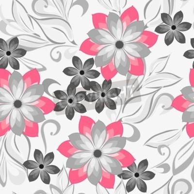 Naklejka Streszczenie kwiat bezszwowe tło wzór