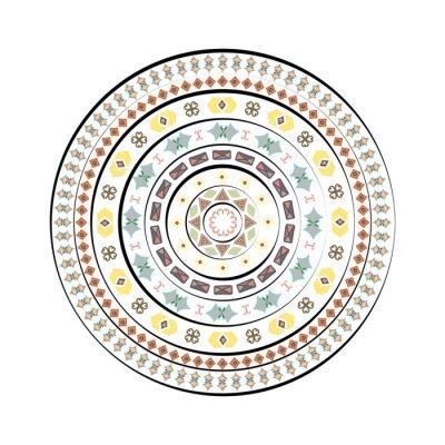 Naklejka Streszczenie okręgu z elementów dekoracyjnych na białym