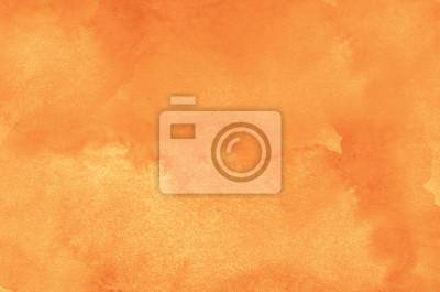 Naklejka Streszczenie pomarańczowym tle akwarela