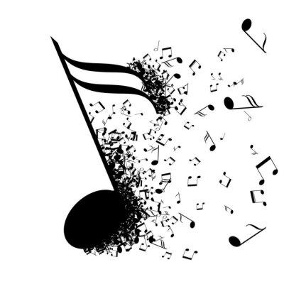 Naklejka Streszczenie projektu muzyki do wykorzystania jako tło
