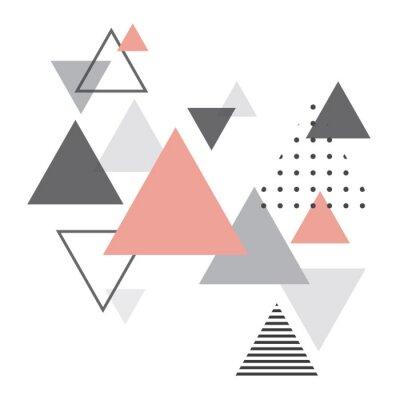 Naklejka Streszczenie skandynawskich geometrycznych tle. Nowoczesny i stylowy plakat abstrakcyjny, okładka, projekt kart. Styl Scandi.