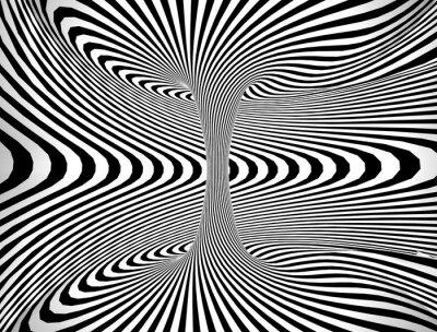 Naklejka Streszczenie spirali koła czerni i bieli
