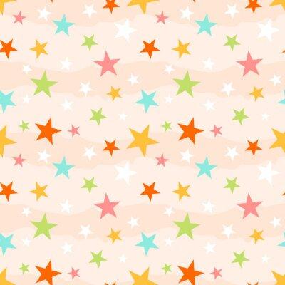 Naklejka Streszczenie szwu z gwiazdami