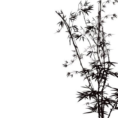 Naklejka Streszczenie tle kwiatów z bambusa.