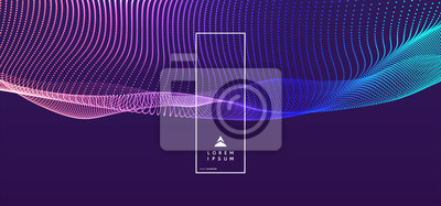 Naklejka Streszczenie tło nauki lub technologii. Projekt graficzny. Ilustracja sieci z cząstek. Powierzchnia siatki 3D.