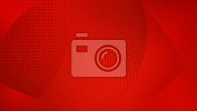 Naklejka Streszczenie tło zakrzywionych powierzchni i punktów rastrowych w czerwonych kolorach