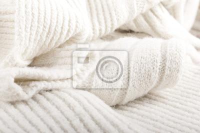 Struktura wełnianej tkaniny, dzianiny ciepłe rzeczy