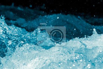 Naklejka strumień wody z fal
