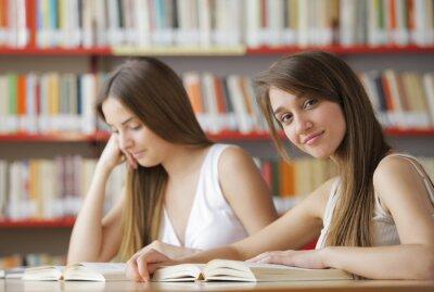 studentów w bibliotece