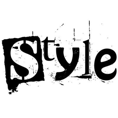 Naklejka style słowo napisane w stylu grunge wyłącznik