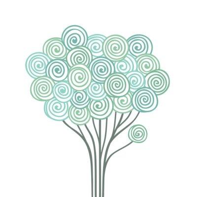 Naklejka Stylizowane drzewo