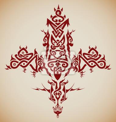 Stylizowane Tribal Krzyż Celtycki Inspirowane Tatuaże Naklejki Redro