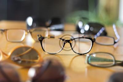Naklejka Stylowe Okulary na Stół