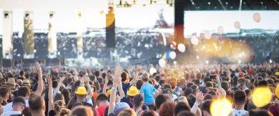 Naklejka Summer music festival concert crowd