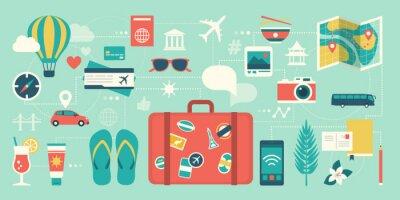 Naklejka Summer vacations and international traveling