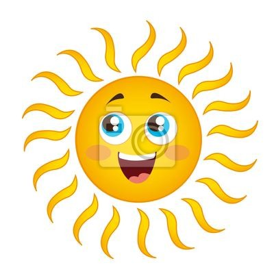 Naklejka Sun Cartoon