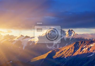 Sundown w górach