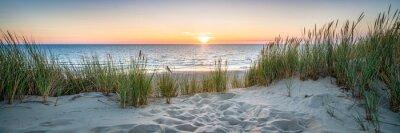 Naklejka Sunset at the dune beach