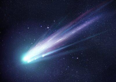 Naklejka Super Bright Comet w nocy