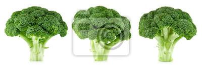 Naklejka surowe brokuły izolowane