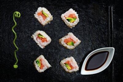 Naklejka sushi maki