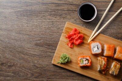 Naklejka Sushi maki zestaw