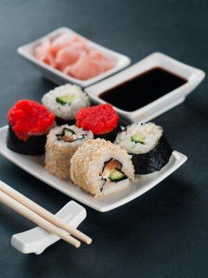 Naklejka Sushi set