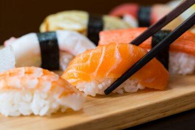 Naklejka Sushi set, Japanese food