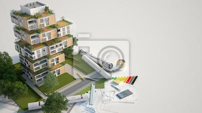 Naklejka Sustainable building mock up