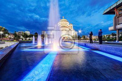 Naklejka Świątynia św Sawy