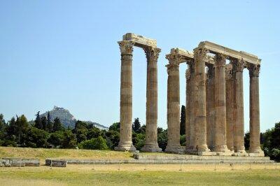 Naklejka Świątynia Zeusa Olimpijskiego w Atenach
