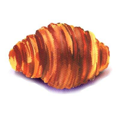 Naklejka świeże francuski croissant na białym tle