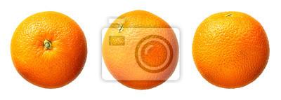 Naklejka Świeże owoce pomarańczowy samodzielnie na białym tle