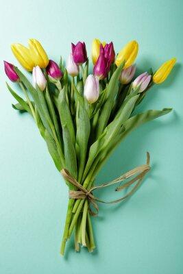 Naklejka świeże tulipany
