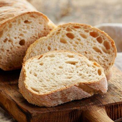 Naklejka Świeżo upieczony chleb ciabatta