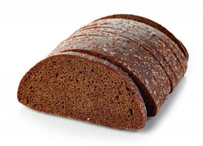 Naklejka świeży chleb żytni
