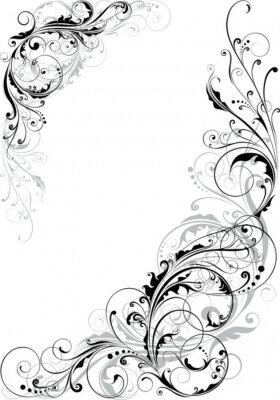 Naklejka Swirl kwiatowy wzór