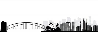 Naklejka Sydney Australia skyline