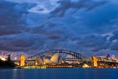 Naklejka Sydney Harbour Zmierzch