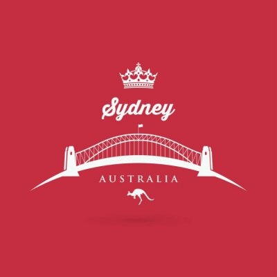 Naklejka Sydney - Most symbolem