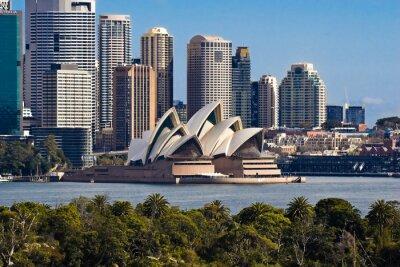 Naklejka Sydney Opera House i Skyline