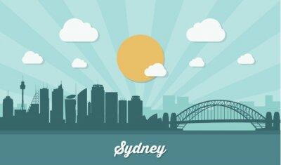Naklejka Sydney skyline - płaska
