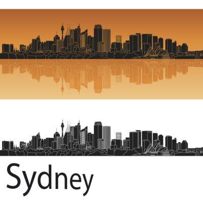 Naklejka Sydney skyline V2
