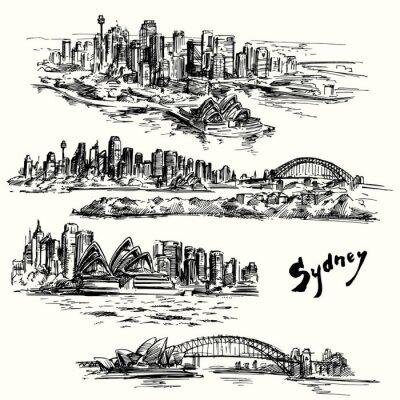Naklejka Sydney - wyciągnąć rękę kolekcja