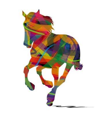 Naklejka sylwetka astratta di cavallo selvaggio