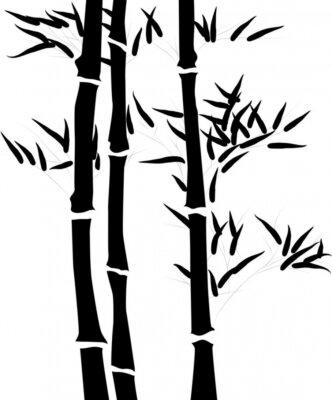 Naklejka Sylwetka gałęzi bambusa