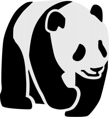 Naklejka Sylwetka panda