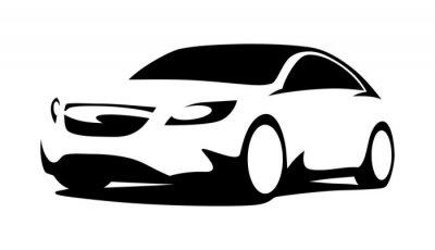Naklejka Sylwetka samochodu nowoczesne